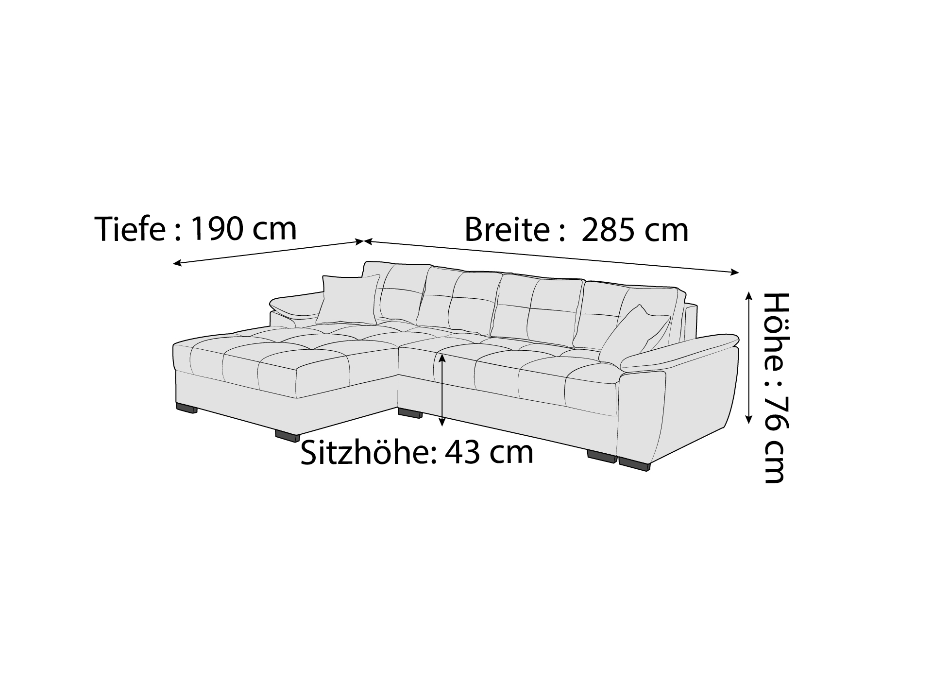 Ecksofa Bellusco