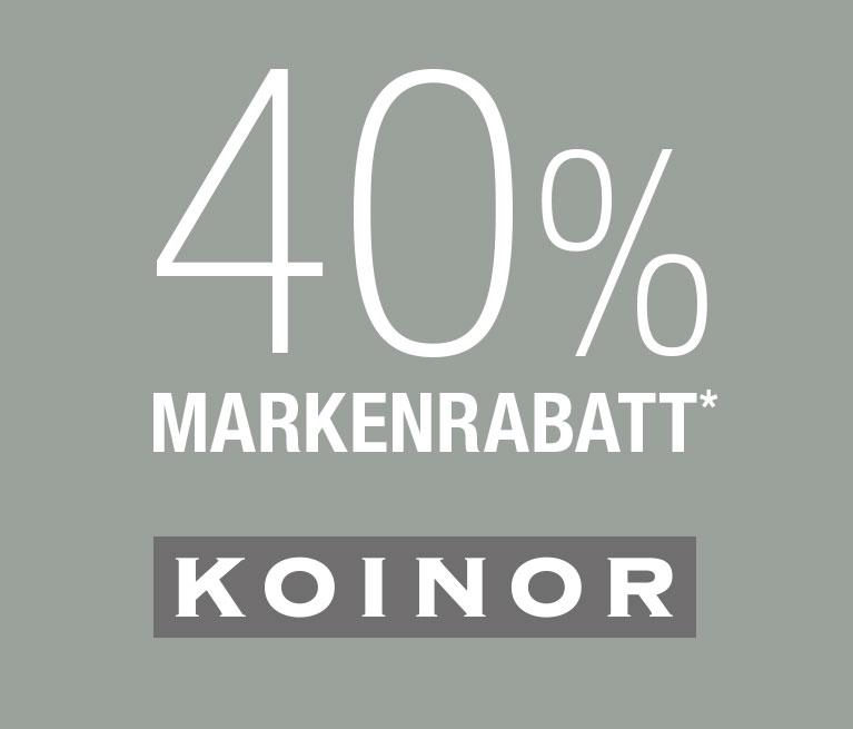 40% Markenrabatt Koinor   Kabs.de